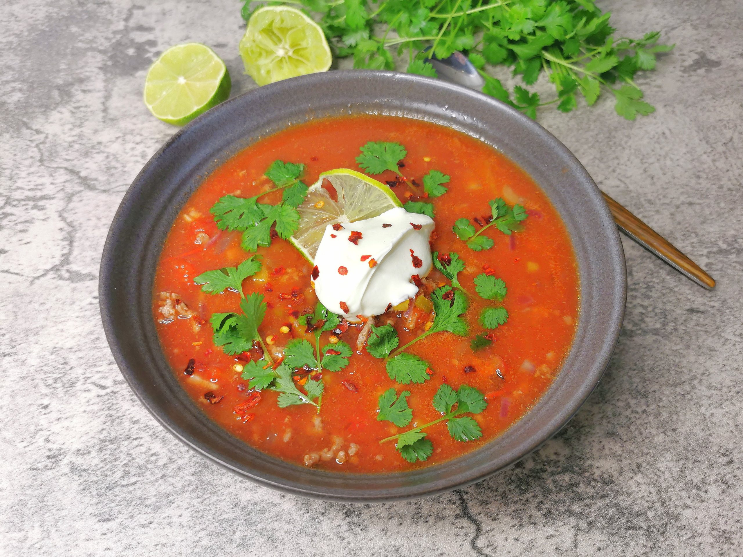 Lavkarbo tacosuppe